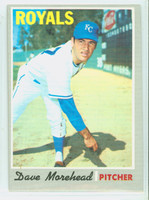 1970 Topps Baseball 495 Dave Morehead Kansas City Royals Very Good to Excellent
