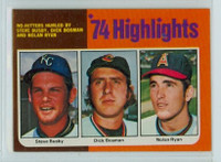 1975 Topps Baseball 7 No Hitters Excellent
