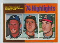 1975 Topps Baseball 7 No Hitters California Angels Excellent to Mint