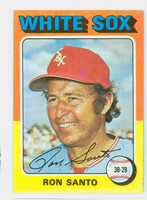 1975 Topps Baseball 35 Ron Santo Chicago White Sox Excellent to Mint