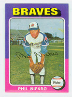 1975 Topps Baseball 130 Phil Niekro Atlanta Braves Excellent to Mint