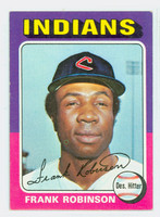 1975 Topps Baseball 580 Frank Robinson Cleveland Indians Excellent