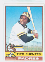 1976 Topps Baseball 8 Tito Fuentes San Diego Padres Excellent