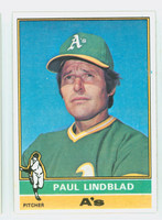 1976 Topps Baseball 9 Paul Lindblad Oakland Athletics Near-Mint