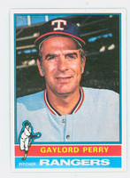 1976 Topps Baseball 55 Gaylord Perry Texas Rangers Near-Mint