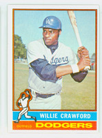 1976 Topps Baseball 76 Willie Crawford Los Angeles Dodgers Excellent to Mint