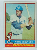 1976 Topps Baseball 76 Willie Crawford Los Angeles Dodgers Near-Mint to Mint