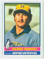 1976 Topps Baseball 92 Eduardo Rodriguez Milwaukee Brewers Excellent to Mint