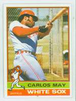 1976 Topps Baseball 110 Carlos May Chicago White Sox Near-Mint Plus
