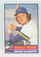 1976 Topps Baseball 116 Charlie Moore Milwaukee Brewers Near-Mint Plus
