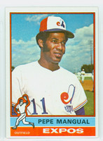 1976 Topps Baseball 164 Pepe Mangual Montreal Expos Excellent to Mint