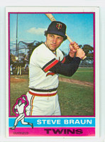 1976 Topps Baseball 183 Steve Braun Minnesota Twins Excellent to Mint