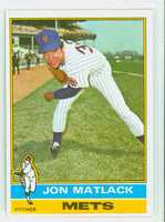 1976 Topps Baseball 190 Jon Matlack New York Mets Excellent to Mint