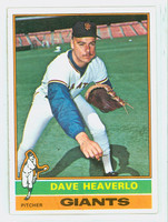 1976 Topps Baseball 213 Dave Heaverlo San Francisco Giants Excellent