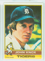 1976 Topps Baseball 218 John Knox Detroit Tigers Excellent to Mint
