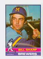 1976 Topps Baseball 244 Bill Sharp Milwaukee Brewers Excellent to Mint