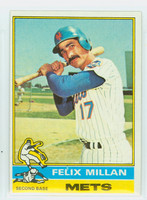 1976 Topps Baseball 245 Felix Millan New York Mets Excellent to Mint