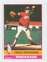 1976 Topps Baseball 255 Fritz Peterson Cleveland Indians Excellent to Mint