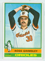 1976 Topps Baseball 257 Ross Grimsley Baltimore Orioles Excellent