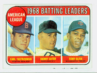 1969 Topps Baseball 1 AL Batting Leaders Good to Very Good