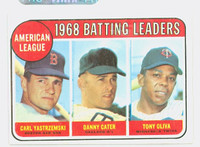 1969 Topps Baseball 1 AL Batting Leaders Very Good