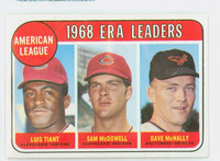 1969 Topps Baseball 7 AL ERA Leaders Excellent to Mint