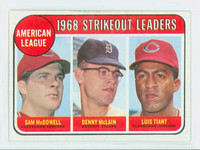 1969 Topps Baseball 11 AL Strikeout Leaders Excellent to Mint