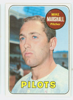 1969 Topps Baseball 17 Mike Marshall Seattle Pilots Excellent to Mint