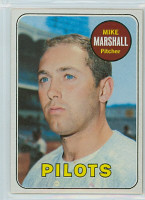 1969 Topps Baseball 17 Mike Marshall Seattle Pilots Near-Mint