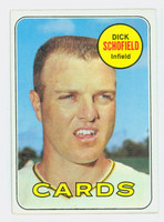 1969 Topps Baseball 18 Dick Schofield St. Louis Cardinals Excellent to Excellent Plus