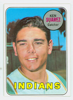 1969 Topps Baseball 19 Ken Suarez Cleveland Indians Excellent to Mint