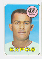 1969 Topps Baseball 22 Jesus Alou Montreal Expos Excellent to Mint