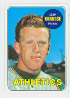 1969 Topps Baseball 23 Lew Krausse Oakland Athletics Excellent to Mint