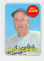 1969 Topps Baseball 24 Walt Alston Los Angeles Dodgers Excellent