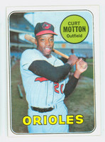 1969 Topps Baseball 37 Curt Motton Baltimore Orioles Excellent to Excellent Plus