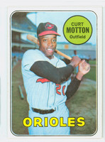 1969 Topps Baseball 37 Curt Motton Baltimore Orioles Excellent to Mint
