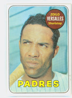 1969 Topps Baseball 38 Zoilo Versalles San Diego Padres Excellent to Excellent Plus
