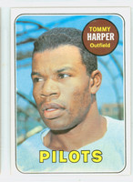 1969 Topps Baseball 42 Tommy Harper Seattle Pilots Excellent to Excellent Plus