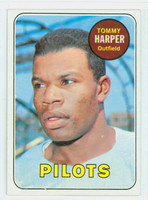 1969 Topps Baseball 42 Tommy Harper Seattle Pilots Excellent to Mint