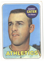 1969 Topps Baseball 44 Danny Cater Oakland Athletics Excellent to Mint