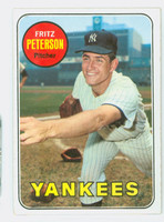 1969 Topps Baseball 46 Fritz Peterson New York Yankees Excellent