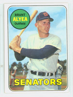 1969 Topps Baseball 48 Brant Alyea Washington Senators Excellent to Excellent Plus