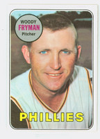 1969 Topps Baseball 51 Woody Fryman Philadelphia Phillies Excellent to Mint