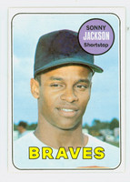 1969 Topps Baseball 53 Sonny Jackson Atlanta Braves Excellent to Mint