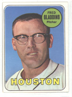 1969 Topps Baseball 58 Fred Gladding Houston Astros Excellent to Mint