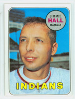 1969 Topps Baseball 61 Jimmie Hall Cleveland Indians Excellent to Excellent Plus