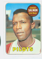 1969 Topps Baseball 62 Chico Salmon Seattle Pilots Excellent to Excellent Plus