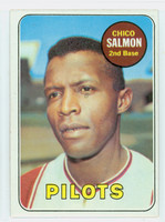 1969 Topps Baseball 62 Chico Salmon Seattle Pilots Excellent to Mint