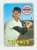 1969 Topps Baseball 71 Steve Whitaker Kansas City Royals Excellent to Excellent Plus