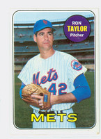 1969 Topps Baseball 72 Ron Taylor New York Mets Excellent